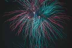New Year (A.a.zare_Photography) Tags: firework red blue pink tean new year light night norway national nice time sky shadow dark flare focus green hue happy background photo photography paint people white winter wide