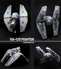 VA-03 Fighter (Johann Dakitsch) Tags: space lego moc starfighter spaceship fighter scifi science fiction future toy custom creation bricks system minifigure