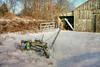 Mower (Sunset Sailor) Tags: sickle mower barn snow winter newengland