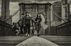 A walk over the Brooklyn Bridge. (jörg opfermann) Tags: sony ilce 7m2 fe 24240mm spaziergang walk brücke bridge brooklyn york usa black white schwarz new weis bw