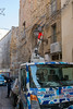 Christmas is Coming! (Victoria Lea B) Tags: truck sicily italy streetchristmasdecoration cefalu cherrypicker worker