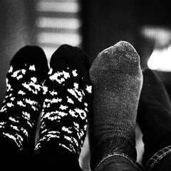 19 (DrCuervo) Tags: 19 anniversary monocrome blackandwhite unselfie selfportrait affinityphoto silverefexpro2 gothicnoir gh4 metabonesspeedbooster nikkorvintagelens bokeh feet socks