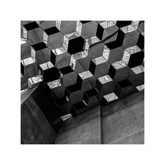 harpa, iceland (schan-photography.com) Tags: xf23mmf14r iceland harpa fujifilmxe1 monochrome bw blackandwhite fujifilm xe1 23mm f14 square