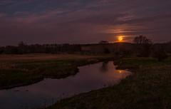 November Moonset (cindiefearnall) Tags: fullmoon moonset moonlight beavermoon frostmoon bigheadriver bognorontario nightphotography landscapephotography twilight
