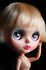 Daisy Star (Antique Wolf) Tags: blythe mandy cotton candy custom licca hybrid eyechips blue eyes scalp goody girl go photography toy dolly dolls pretty adorable lovely cute dark portrait