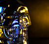 Lit by Candlelight (nicolechamilton) Tags: litbycandelight candlelight skull glass spooky glow warm hmm macromondays macromonday