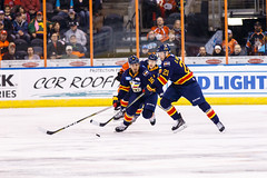 "Kansas City Mavericks vs. Colorado Eagles, December 16, 2017, Silverstein Eye Centers Arena, Independence, Missouri.  Photo: © John Howe / Howe Creative Photography, all rights reserved 2017. • <a style=""font-size:0.8em;"" href=""http://www.flickr.com/photos/134016632@N02/39106604452/"" target=""_blank"">View on Flickr</a>"