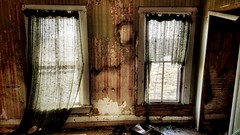 legends... (HWW) (BillsExplorations) Tags: window windowwednesday abandoned abandonedhouse abandonedillinois decay forgotten ruraldecay face haunted creepy wall door wallpaper illinois hww shuttered farm country