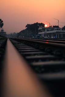 Sunset at Railway