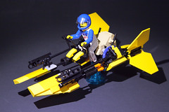 Technic Fig Scale Speeder Bike (S_P Brick Design House) Tags: lego afol bricks toys mocs bespoke