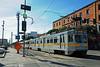 LOS ANGELES--154 lv Pico Station OB (milantram) Tags: electricrailtransport railsystemslosangeles losangeles lacmta blueline streetcars trolleys trams lightrail