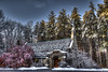 Alverne Memorial Chapel, Hudson, NH (macnetdaemon) Tags: chapel church forest sunligh hdr winter scenery landscape canon 7d markii