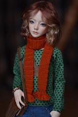 Ginger scarf - ginger soul (hoe-nir) Tags: zaoll luv dollmore bjd doll scarf eyeco