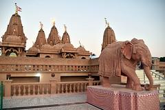 Temple (Swami Narayan) Tithal. (Manoo Mistry) Tags: nikon nikond5500 tamron tamron18270mmzoomlens flicker india gujarat mandir swaminarayan temple hindu hinduism hindutemple carving elephant tithal