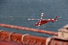 Helicopter going under Golden Gate Bridge (georgehart64) Tags: red california helicopter goldengatebridge