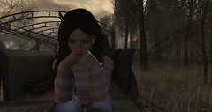 In my heart, in my head (Spankymypony) Tags: megmyers dark flickr secondlife catwa bento trees clouds pink stripes woman green white truck brown sky grass picture photo