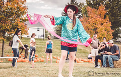 Ribbon Dance (Samrat_Banerjee) Tags: dance ribbon kid girl happy smile face group carnival fair school schoolground confident confidence individuality dress makeup fall color program audience sony mirrorless a7rii a7r2 a7rm2 2470 f4 tree grass green sunset midday noon ground
