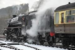 Black 5 44806 leaving Levisham (Alun EH) Tags: railway railroad br britishrail britishrailways nymr northyorkshiremoorsrailway railways black5 stanier 44806 levisham