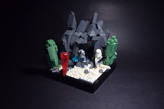Mining Facility- Dark Times Target #3: Ilum (RagingPhotography) Tags: lego star wars imperial galactic empire snow storm trooper stormtrooper hoth ilum pilot planet snowy cold chilly rocky cave mine mining facility caves kyber crystals rebel rebellion alliance build vignette rocks mountains mountain dark times ragingphotography