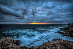 The Cruel Sea DSC_2907 (BlueberryAsh) Tags: porland2017 portland holiday capenelson capenelsonlighthouse sea ocean sunset cloudsstormssunsetssunrises clouds longexposure nikond750 nikon1635 coast coastline australianseascape australiancoast water seascape