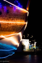 dec-0180 (epistimigallery) Tags: paros parosland paroslover parosgreece greece greek greekisland cyclades nightshoot mirror reflextion watersea sea boat mirrorimage image windmill tripod nikon3200 nikonhunt nikon sky lghts xmas christmas midnight december month shadows dark