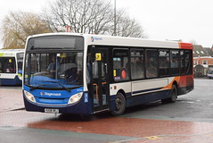 SM 39700 @ Nuneaton bus station (ianjpoole) Tags: stagecoach midlands man 14240lf alexander dennis enviro 200 kx08hrj 39700 working route 40 leicester haymarket bus station pool meadow coventry