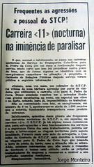 STCP - Notícia de agressão a cobrador da linha de troleicarro 11 (Bolhão - São Pedro da Cova) (Remise da Boavista) Tags: stcp