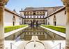 Granada. Alhambra (Hans van der Boom) Tags: vacation holiday spain espana granada alhambra gardens complex nasrid palace muslim courtyard columns pond hedge reflection fountain arcade balcony andalucia es
