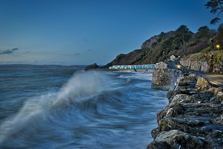 Stormy seas at dawn in Torquay