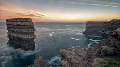 Dún Bríste at dawn (mickreynolds) Tags: 2018 atlantic ballycastle comayo downpatrickhead dúnbríste ireland nx500 samyang12mm seastack wildatlanticway sunrise