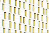 White Facade, yellow windows (Jan van der Wolf) Tags: map17211v architecture architectuur windows yellow geel white wit rhythm herhaling repetition visualrhythm ramen gevel facade modernarchitecture hoofddorp