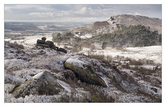 Winter At Roach Hall (Dave Fieldhouse Photography) Tags: wideangle moorland staffordshire reservoir tittesworth ramshawrocks hencloud peakdistrict heather rocks roachhall theroaches hill snow winter nationalpark peaks landscape outdoors cold frozen farm farmbuilding farmland morning fujifilm fuji fujixt2 wwwdavefieldhousephotographycom