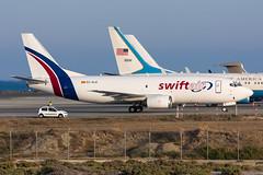 EC-KLR - Swiftair - Boeing 737-3Q8(SF) (5B-DUS) Tags: ecklr swiftair boeing 7373q8sf 737300 b733 lca lclk larnaca larnaka international airport airplane aircraft aviation cyprus flughafen flugzeug planespotting plane spotting