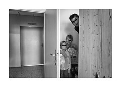 Our temporary home (Jan Dobrovsky) Tags: portrait people reallife home humanity children indoor child psychiatricclinic leicaq room blackandwhite monochrome human social boys document