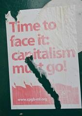 Capitalism Must Go, York, UK (Robby Virus) Tags: york england uk unitedkingdom britain greatbritain sticker slap communist communism capitalism must go marxist leninist