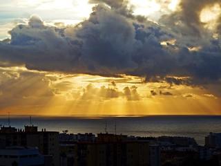 Los rayos del sol