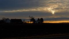 Sunrise (joeldinda) Tags: 2696 december sunrise tree cloud nikon roxandtownship roxana eatoncounty sky michigan nikon1v2 1v2 v2 farmyard fields 2014 roxand onthisdate 364366