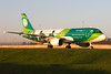 EI-DEO, Airbus A320-214, Aer Lingus (Irish Rugbyteam Livery) at sunset @ Amsterdam Schiphol(EHAM) (freekblokzijl) Tags: irfu airbusa320 a320214 aerlingus irishrugbyteam specialmarkings speciallivery sunset afternoon lowlight taxiwayq colourful green rugby taxien arrival dublin amsterdamairport schiphol eham planespotting vliegtuigspotten canon eos7d groothoeklens najaar autumn