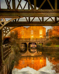 Leeds Liverpool Canal (Peeblespair) Tags: england travel wigan britain leedsliverpoolcanal industrial reflections ironwork