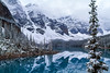 Lake Moraine in pearls (Robert R Grove 2) Tags: moraine white snow lake water clouds morning banff canada beauty beautiful landscape mountains blue robertrgrove rockiesmountainscanada