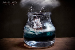 Storm in a teacup! Oh, wait a minute, it's not a teacup, it's a vase.