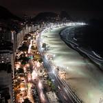 La spiaggia di Copacabana dalla terra del nostro hotel di Rio de Janeiro