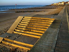 Golden hour steps (saxonfenken) Tags: perpetual 6754misc 6754 steps goldenhour light beach hunstanton gamewinner gamex2