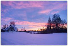 Morgenstemning i januar #1 (Krogen) Tags: norge norway norwegen akershus romerike nannestad landscape landskap krogen vinter winter fujifilmx100