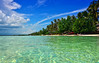 Tropical Paradise (free3yourmind) Tags: summer tropical paradise water beach palms clouds blue sky tirquoise bohol philippines holidays vacations