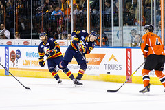 "Kansas City Mavericks vs. Colorado Eagles, December 16, 2017, Silverstein Eye Centers Arena, Independence, Missouri.  Photo: © John Howe / Howe Creative Photography, all rights reserved 2017. • <a style=""font-size:0.8em;"" href=""http://www.flickr.com/photos/134016632@N02/25271502028/"" target=""_blank"">View on Flickr</a>"