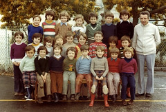 Knee patches (theirhistory) Tags: boy child school clothing trousers knee patch repair shoes wellies jumper france rubberboots teacher class form pupils students education
