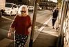 Lungo Arno walking (damar47) Tags: streetphotography streetlife streetstyle streetview streetcolors color warmlight arno firenze florence italy italia oldlady woman walking pentax k30 pentaxart