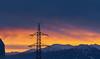 Sunrise (Ernst_P.) Tags: aut glungezer inzing österreich patscherkofel sonnenaufgang strommast tirol winter sigma 70200mm f28