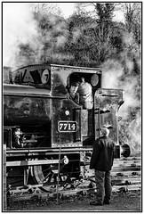 7714 at Bewdley (Rob-33) Tags: 7714 panniertankengine tankengine svr severnvalleyrailway steamrailway steampreservation steamlocomotive locomotivedriver locomotive monochrome blackandwhite bewdleystation uksteam